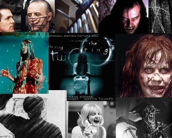 Lista con las 5 películas de miedo mas vistas