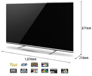 Panasonic TX-47AS650E Televisor LCD 3D de 47
