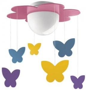 Lámpara Plafón Meria Mariposas Mykidsroom Philips