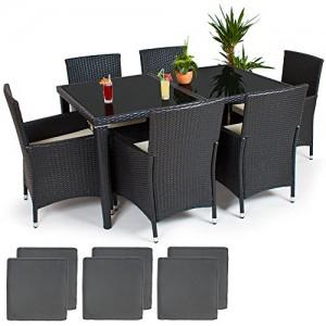 TecTake Conjunto muebles de Jardín en Poly Ratan