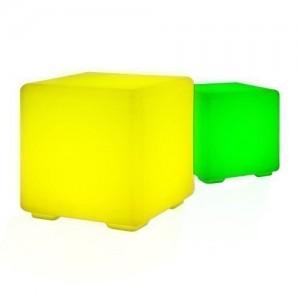 Taburete LED Asiento Cubo - Diseño RGB