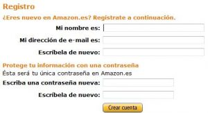 Amazon registro