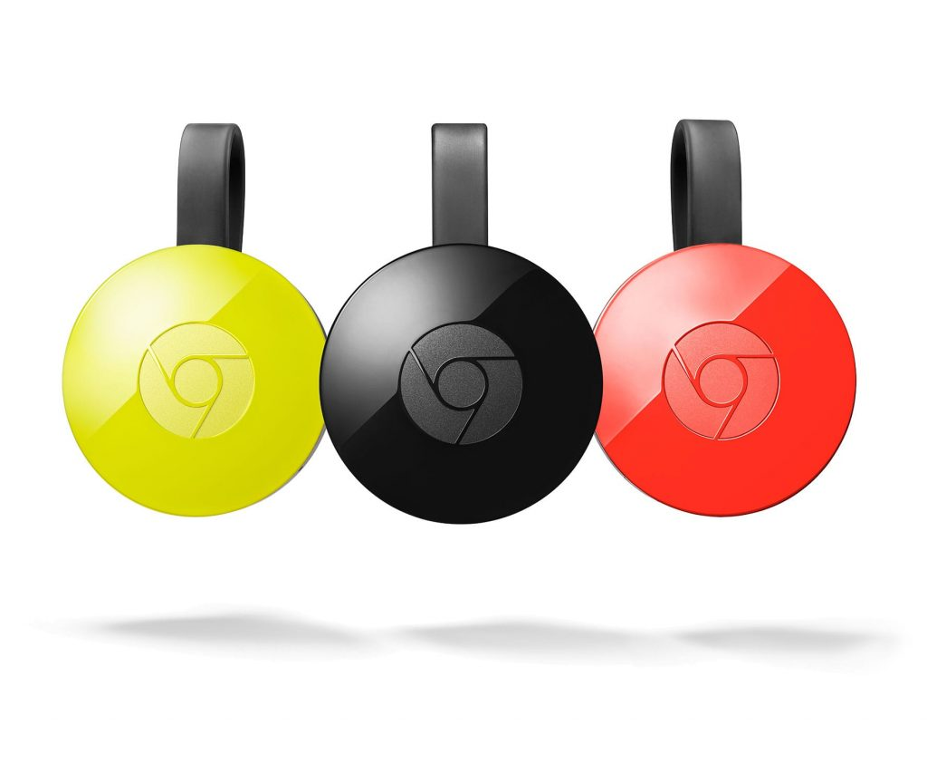 Chromecast de diferentes colores