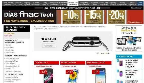 Fnac móviles en oferta