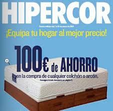 catálogo Hipercor con grandes ofertas en diferentes sectores