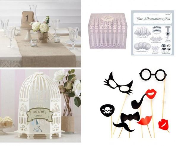 Los mejores artículos para decorar tu boda