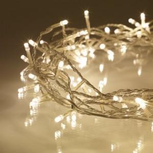 Guirnalda de 100 LEDs de luz blanca cálida