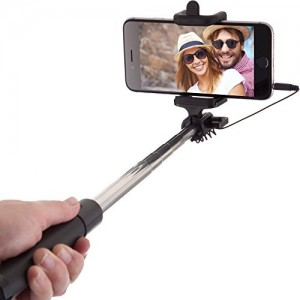 Palo Selfie Stick con Cable de Power Theory
