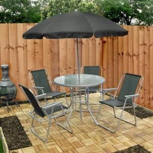 Kingfisher Set de 6 piezas Jardín Patio muebles