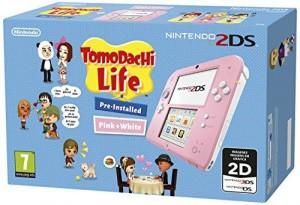 Nintendo 2DS - Consola, Color Rosa + Tomodachi Life