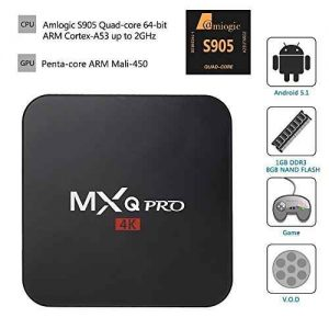 MXQ PRO Android 5 1 Amlogic S905 Quad de Blue Way