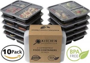 Contenedor de 3 compartimentos para comida- Kitchen Discovery