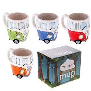 Set de 4 tazas estilo Van pintados a mano