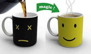 Taza de café que cambia de color