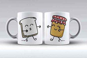 Pack de 2 tazas con ilustración para el desayuno