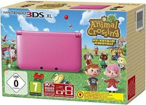 Nintendo 3DS XL pink Animal Crossing