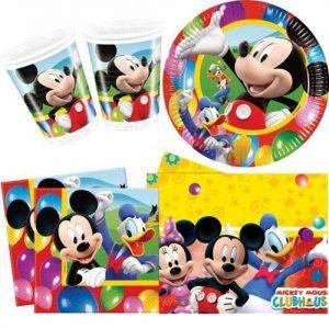Vajilla de Mickey Mouse para fiestas