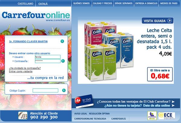 realizar la compra de forma online