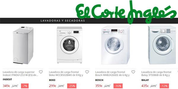 comprar lavadoras en el corte ingles