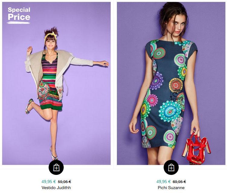 Desigual ofrece la moda más atrevida y moderna en vestidos