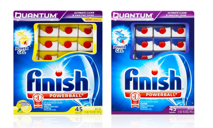 Si lavas muchos vasos, Finish powerball quantum es para ti