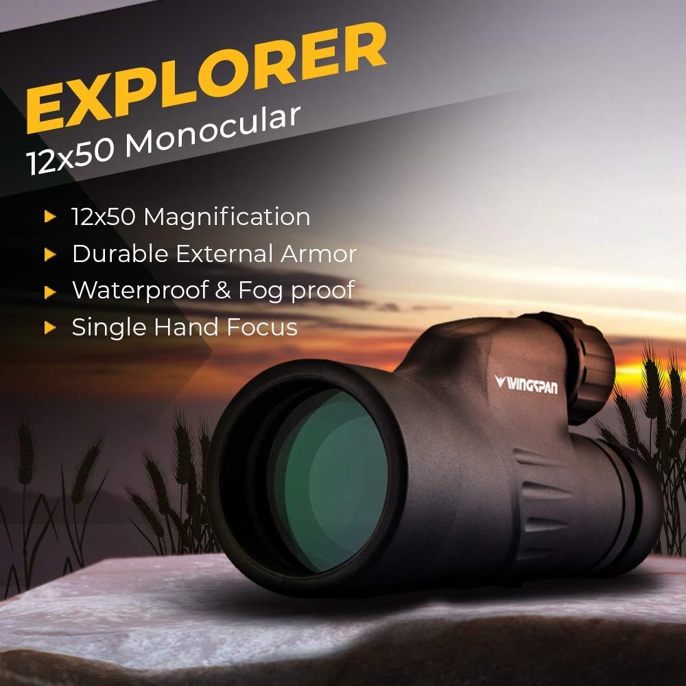 Wingspan Optics Explorer High Powered 12X50 monocular