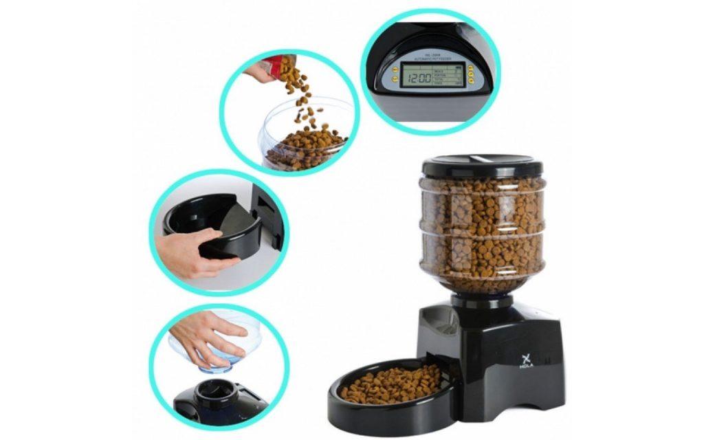 Este dispensador de comida para mascotas tienen un precio más bajo en comparación con la capacidad y el rendimiento
