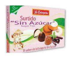 Mantecados y bombones surtidos sin azúcar caja 285 GRS