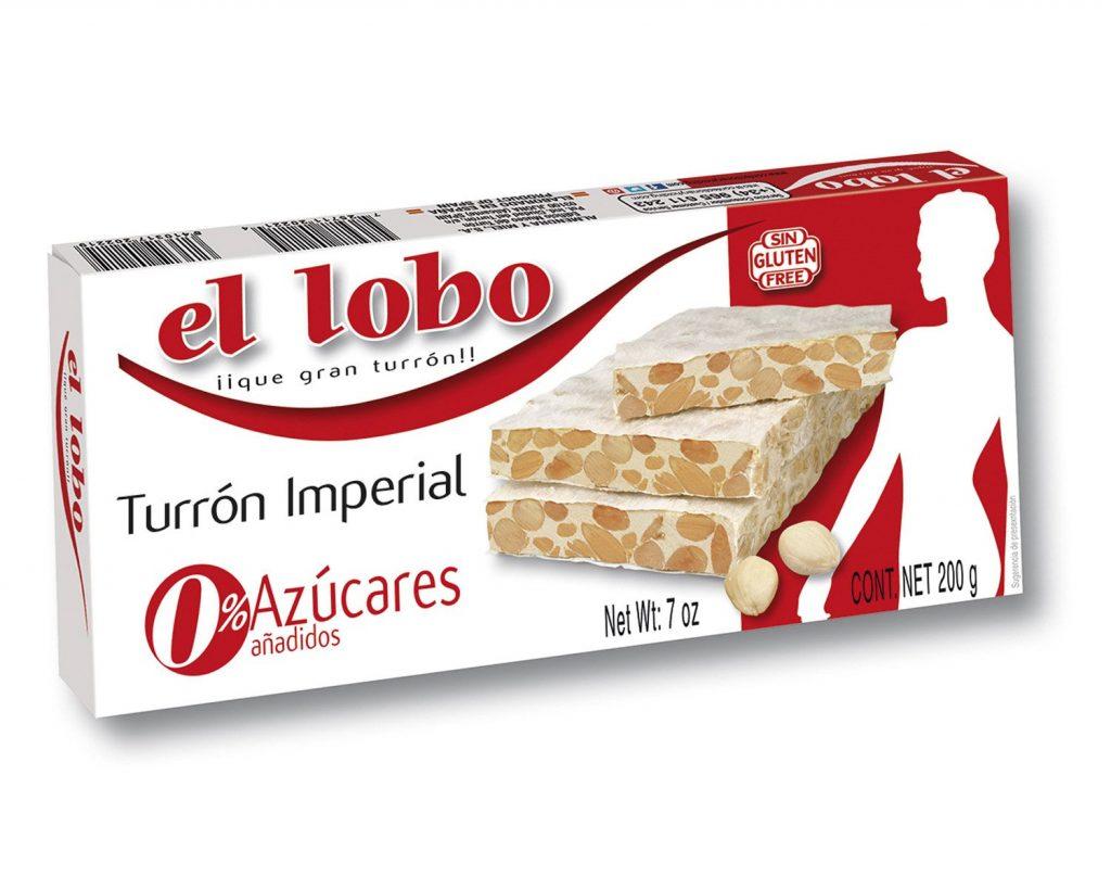 """Turrón duro sin azúcar """"El Lobo"""" de 200G"""